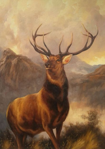 Landseer, Sir Edwin: The Monarch of the Glen. Fine Art Print/Poster. Sizes: A4/A3/A2/A1 (001723)
